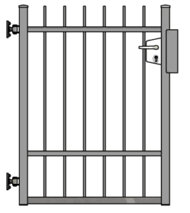 Zesílená jednokřídlová branka