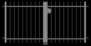 Křídlová brána ruční
