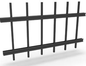 Konstrukce kovového plotu řady PREMIUM