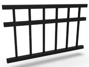 Konstrukce kovového plotu řady TREND