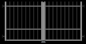 Křídlová brána pro pohon - zesílená