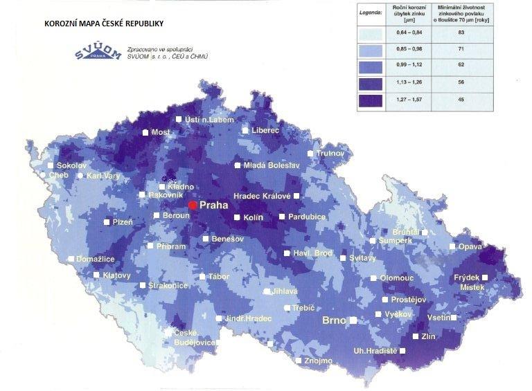 Korozní mapa České republiky