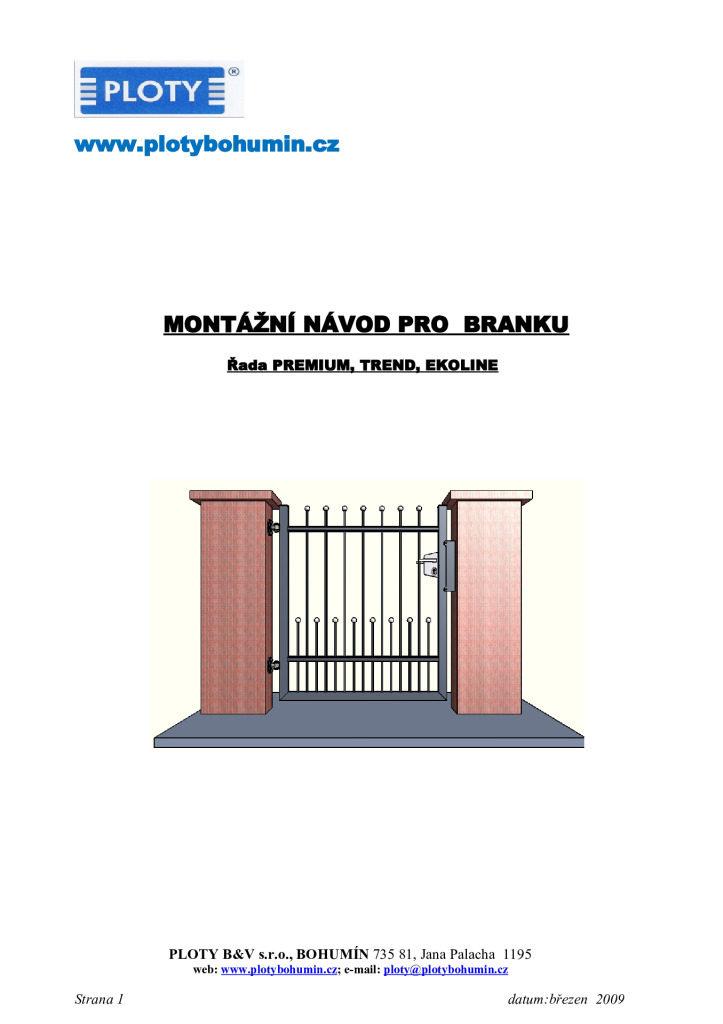 thumbnail of MONTÁŽNÍ NÁVOD -BRANKA